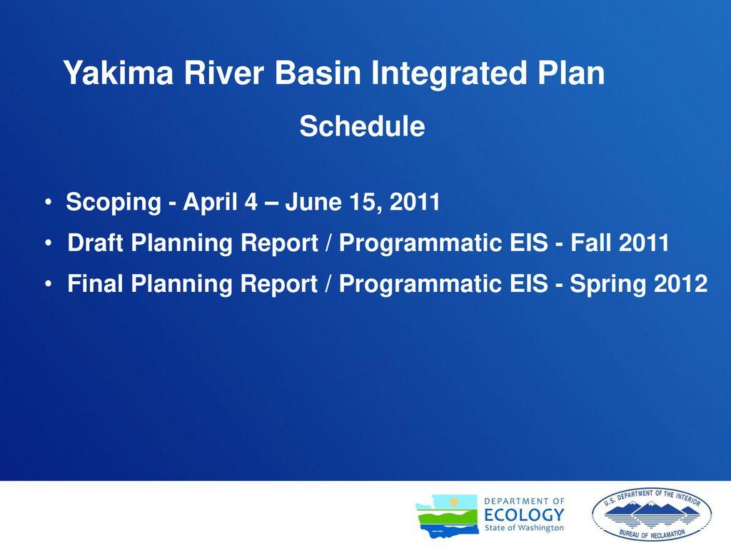 Yakima River Basin Integrated Water Resource Management Plan
