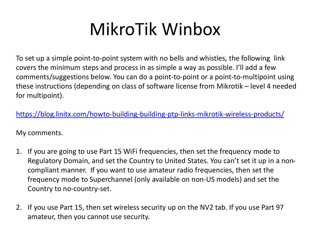 Can T Access Mikrotik Via Winbox