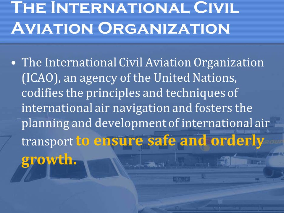 The International Civil Aviation Organization