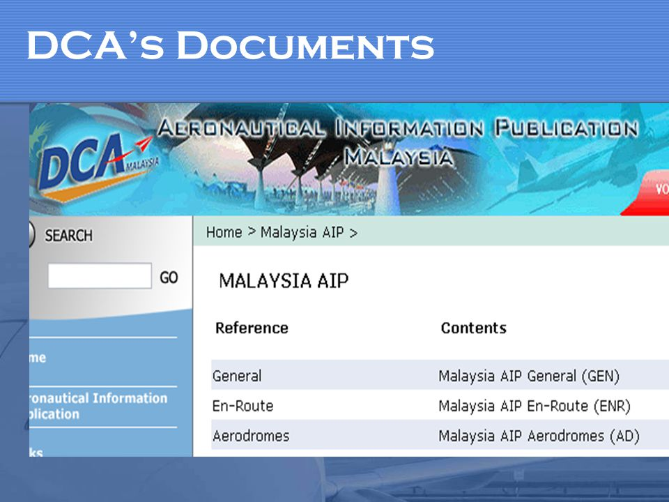 DCA's Documents