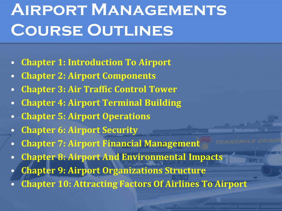 Airport Managements Course Outlines