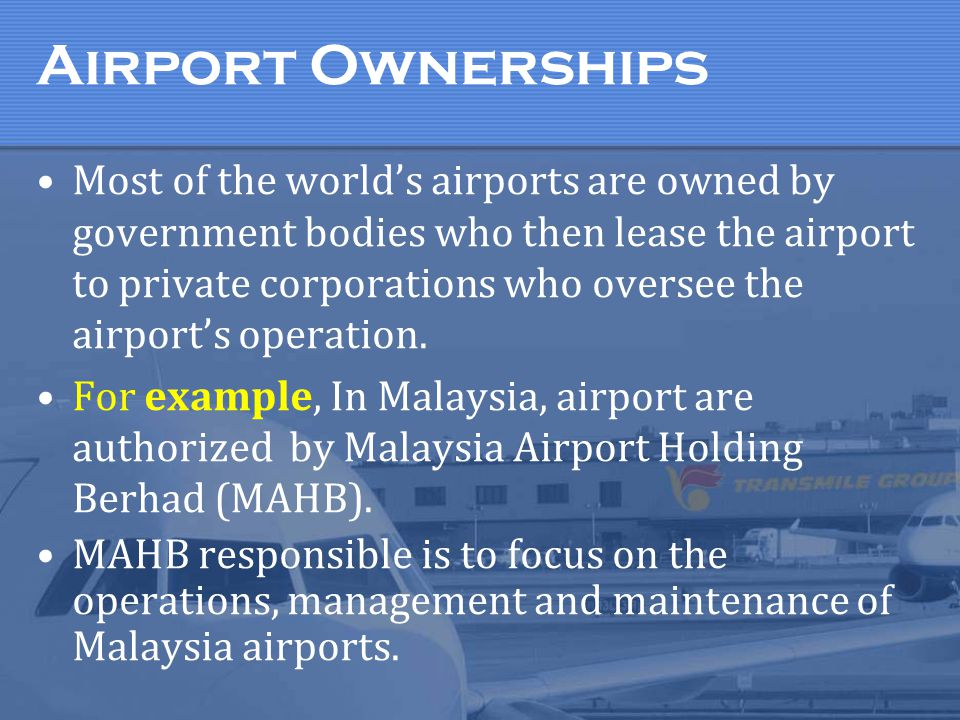 Airport Ownerships