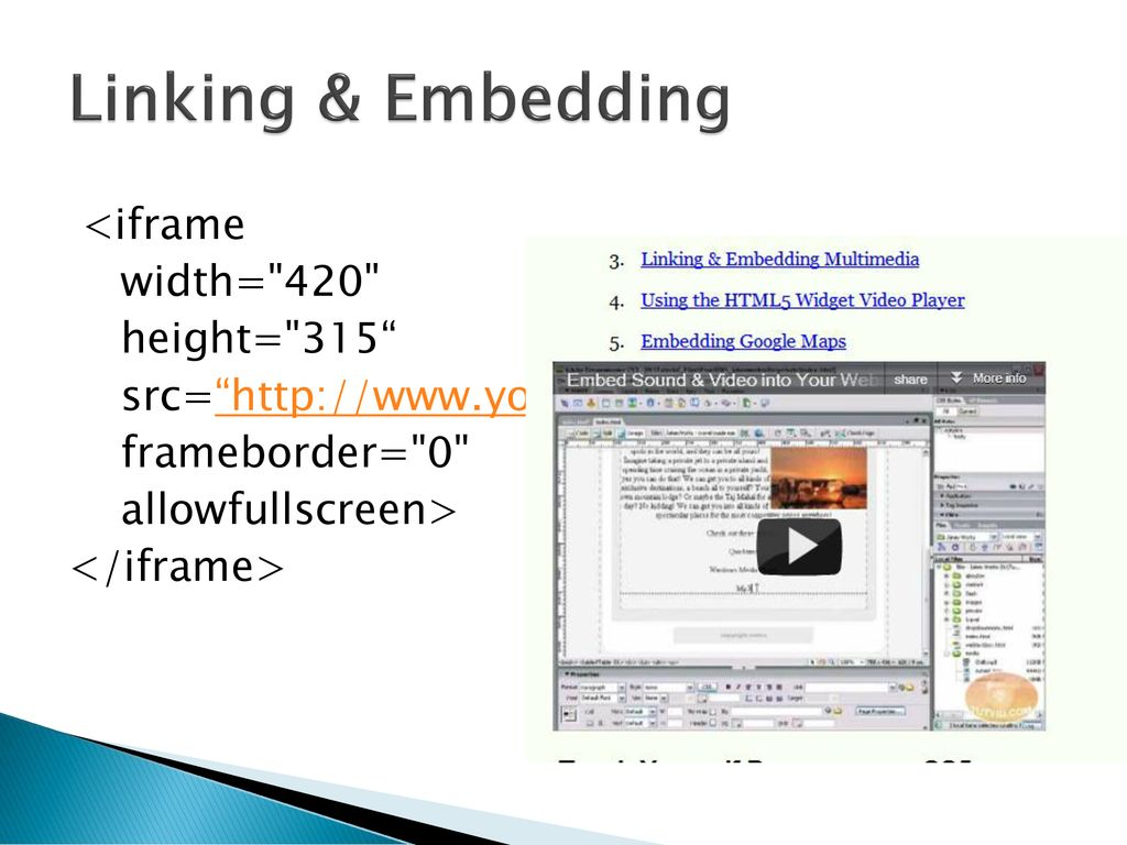 Embed External Web Page In Html