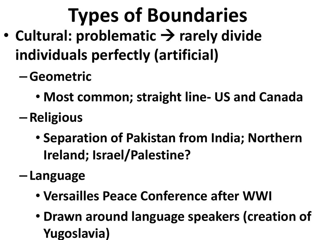 Why Do Boundaries Between States Cause Problems? Ch  8 Key