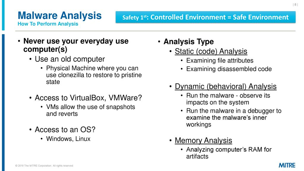 Talking Malware Analysis with MITRE - ppt download