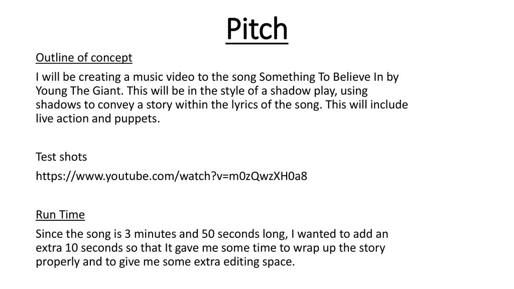 Pitch Outline of concept - ppt download