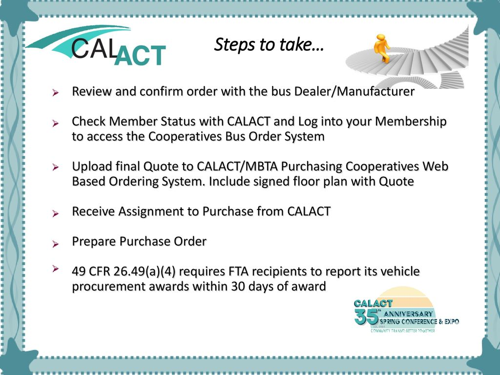CalACT-MBTA Joint Purchasing Cooperative - ppt download
