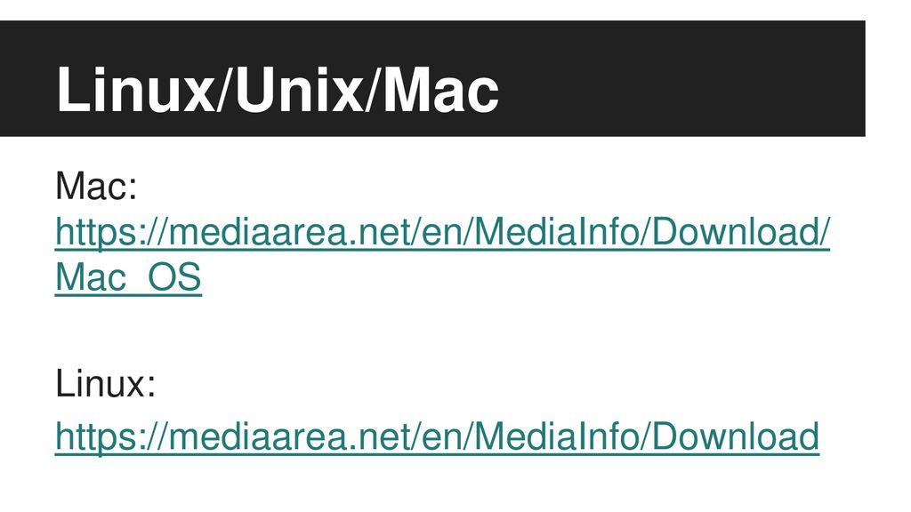 mediainfo mac download
