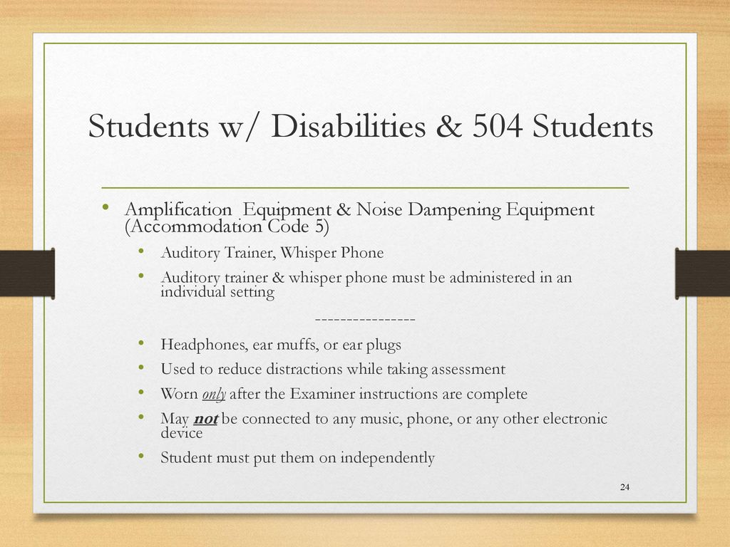 Accommodations & SOL Testing An Overview by Carol Jennings