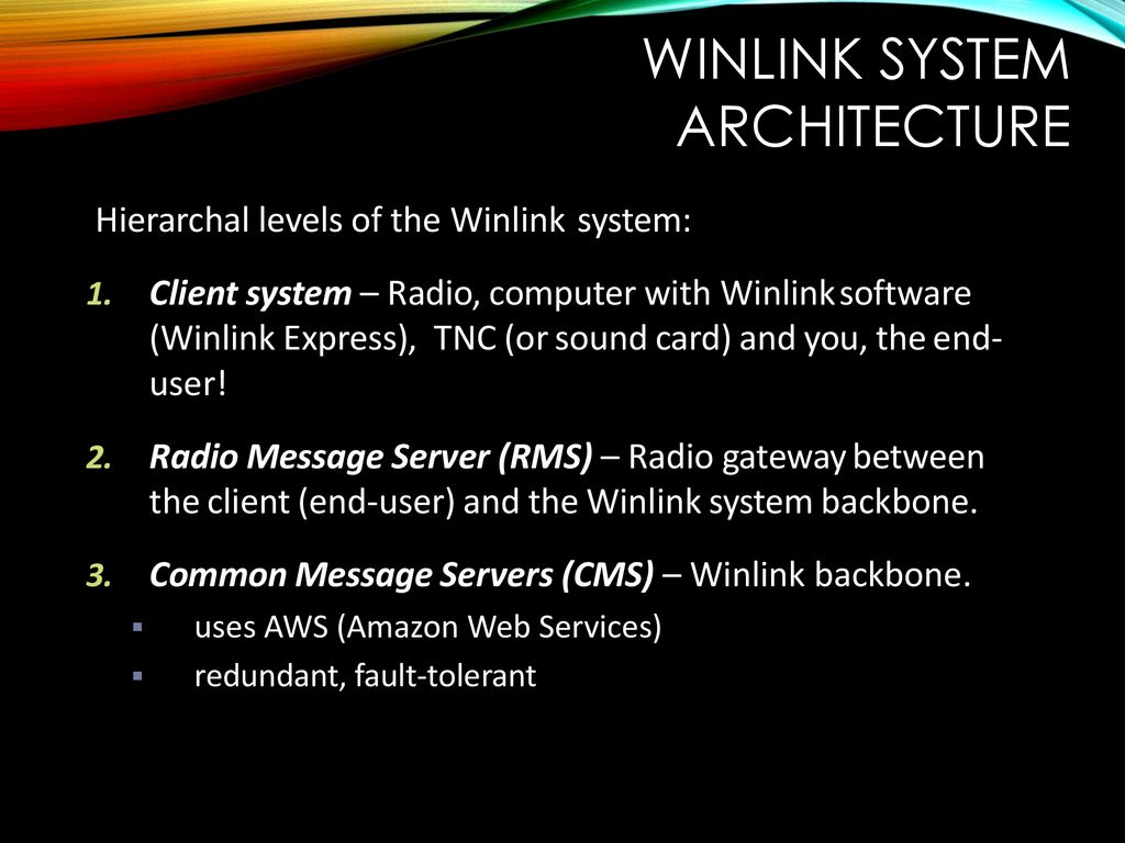 Winlink – Global Radio Introduction  - ppt download