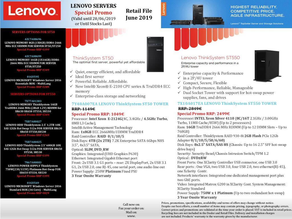 Lenovo TS Win SVR 2016 Cal 5 Device