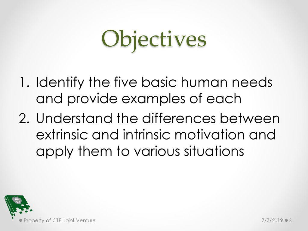 7 basic human needs