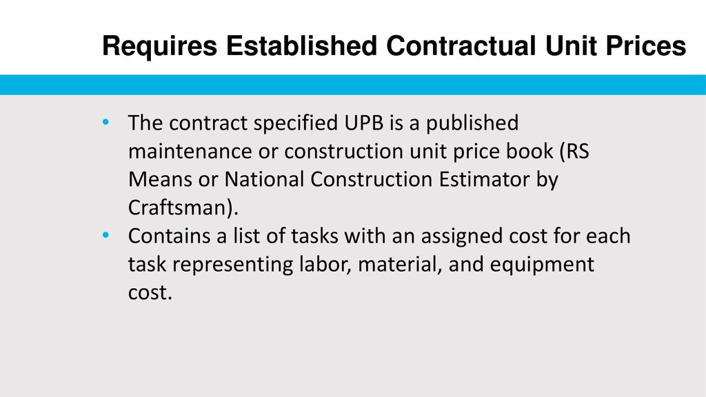 Job Order Contracting: - ppt download