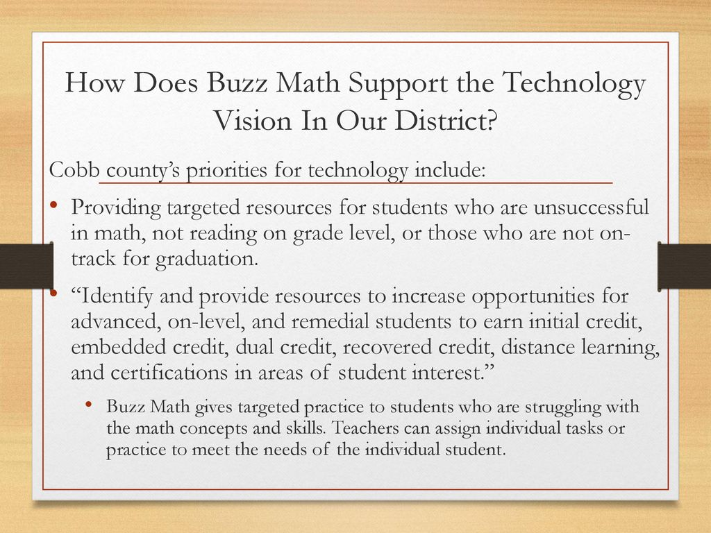 Buzz Math Differentiated Learning For All Students - ppt