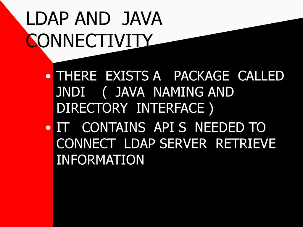 LDAP LIGHT WEIGHT DIRECTORY ACCESS PROTOCOL - ppt download