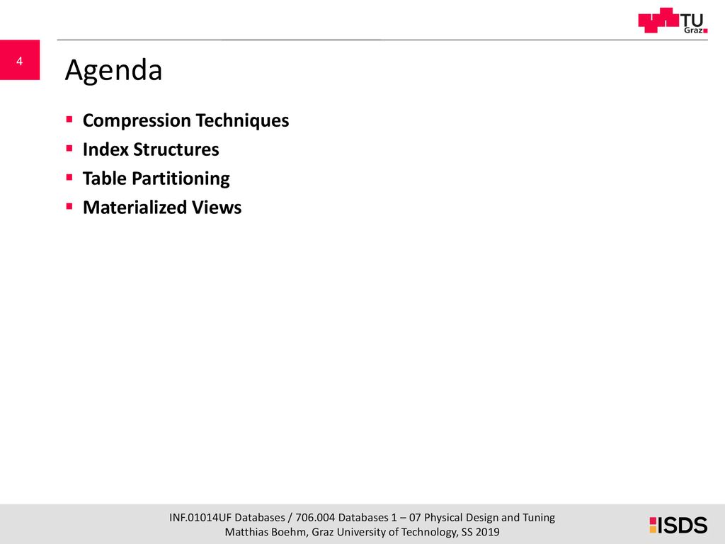 Database Systems 07 Physical Design Tuning Ppt Download