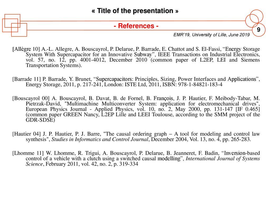 LAYOUT OF PRESENTATION OF EMR'19 » - ppt download