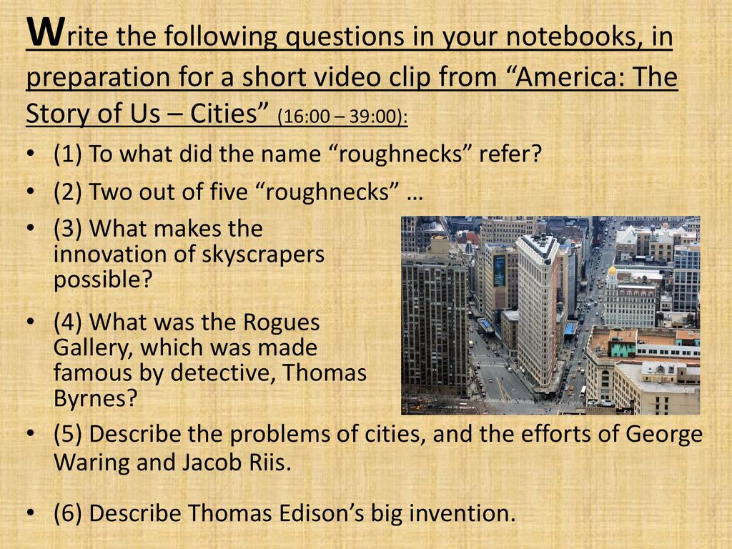 Following Questions In Your Notebooks