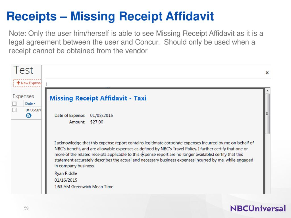 Nbcu Travel Expense Training Guide Ppt Download