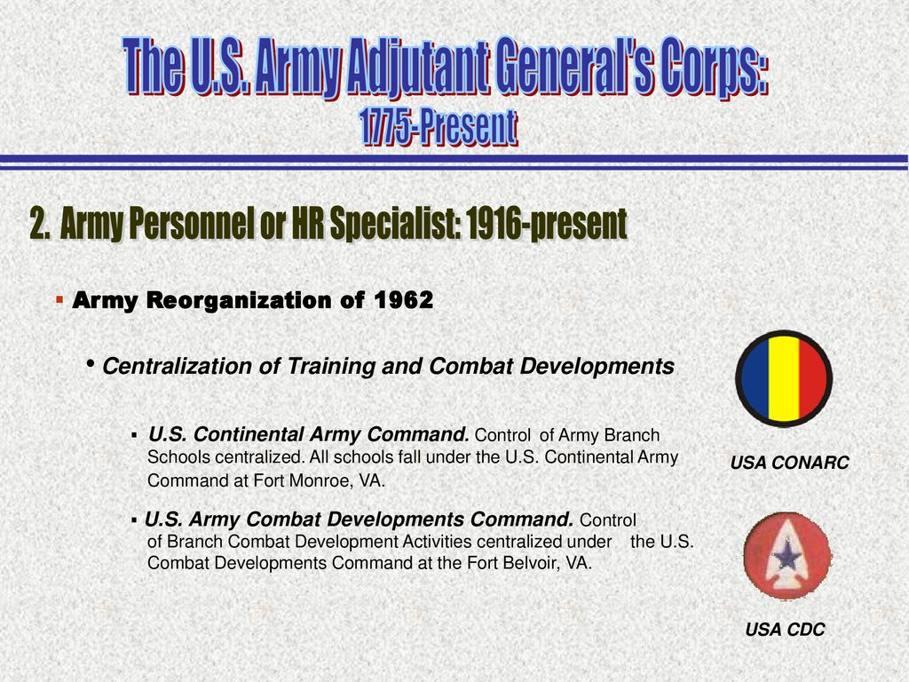 The U S  Army Adjutant General's Corps: - ppt download
