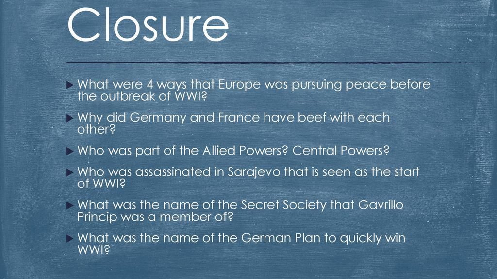 Setting the Stage for WWI - ppt download