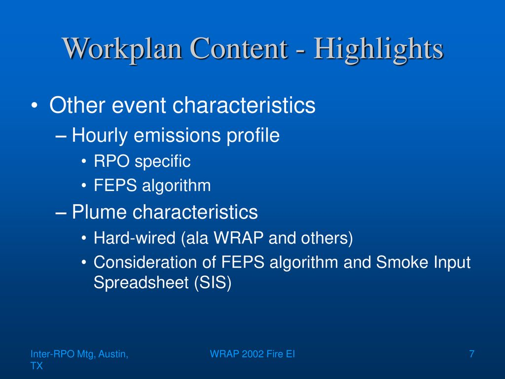 Inter-RPO 2002 Fire Emissions Inventory - ppt download