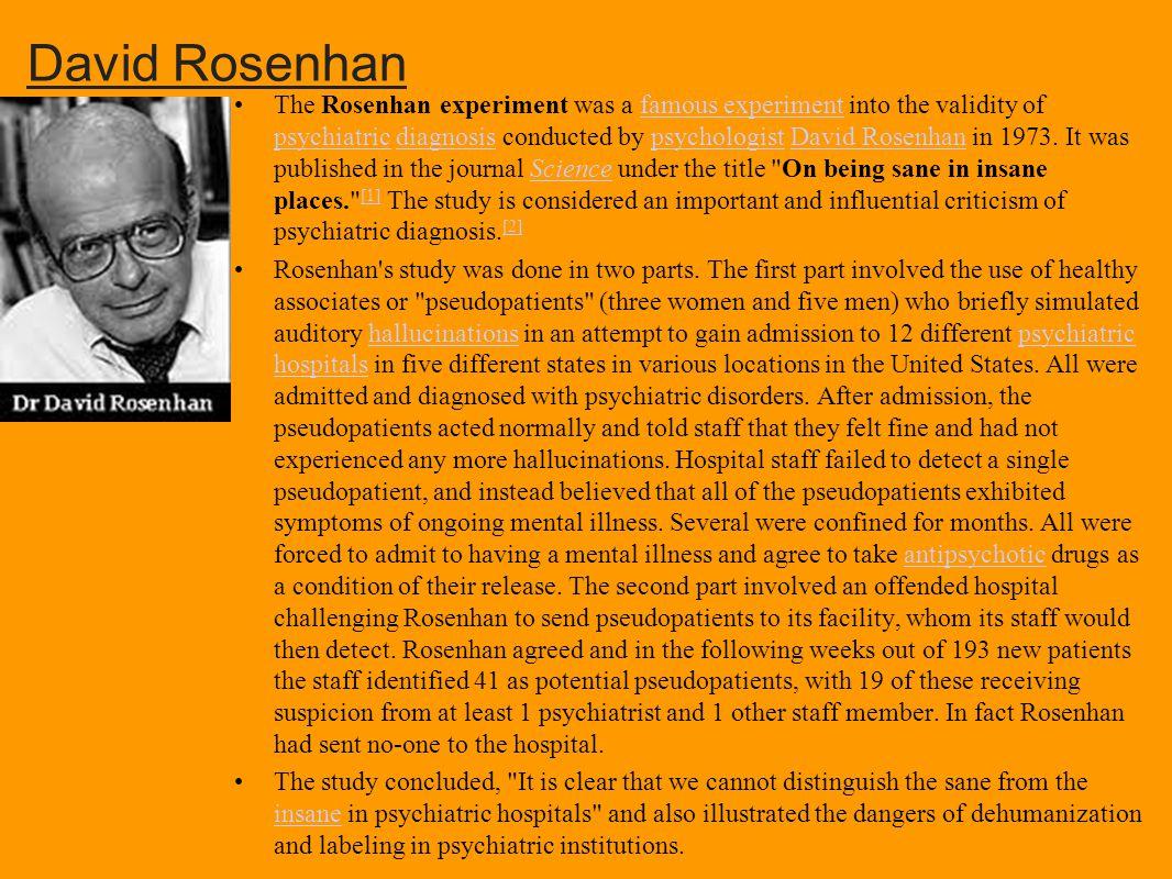 david rosenhan psychology