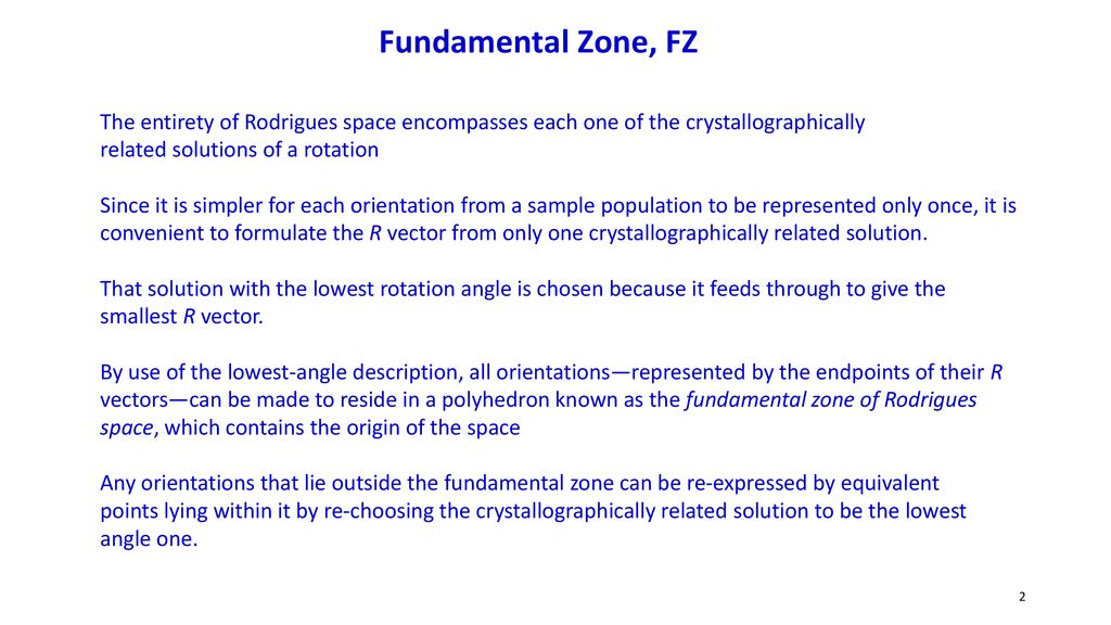 Rodrigues–Frank (RF) space or Rodrigues space - ppt download