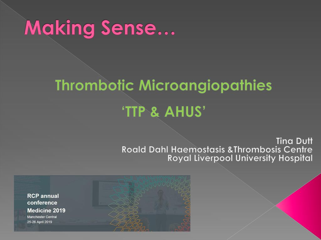 Thrombotic Microangiopathies - ppt download