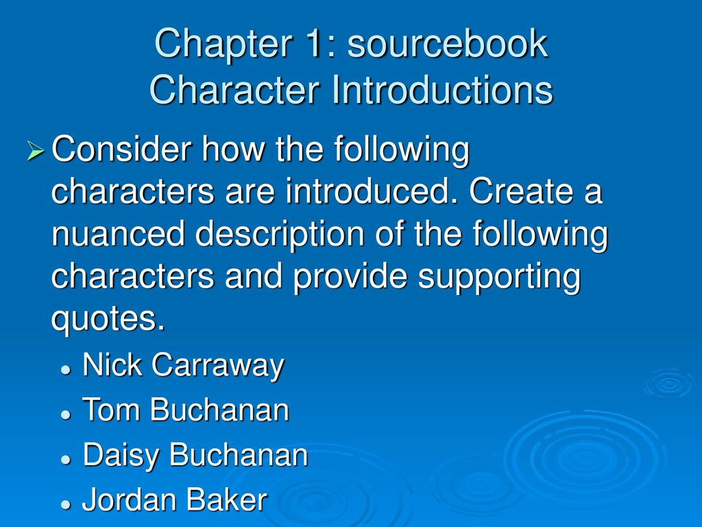 Chapter 1: sourcebook Character Introductions - ppt download