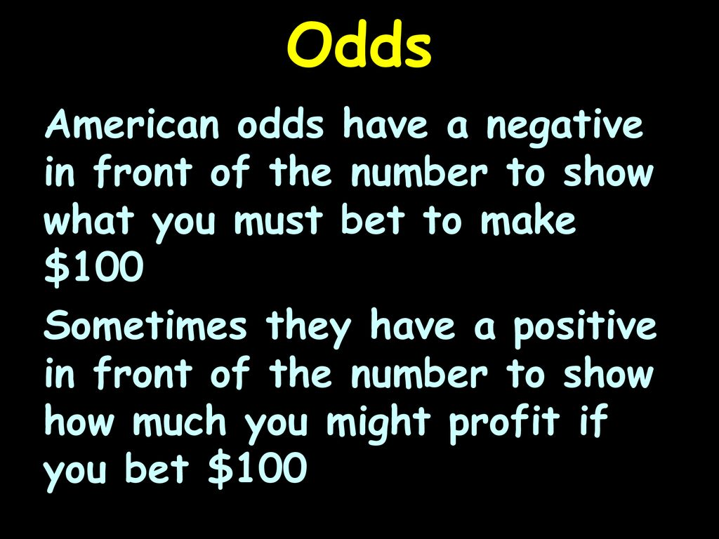 Statistics Odds - ppt download