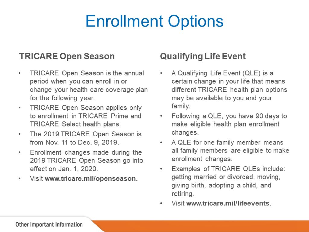 tricare open season 2020