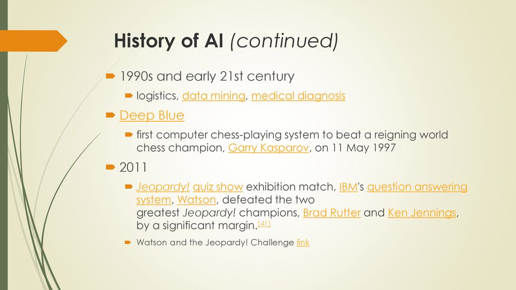 Artificial Intelligence (AI) - ppt download