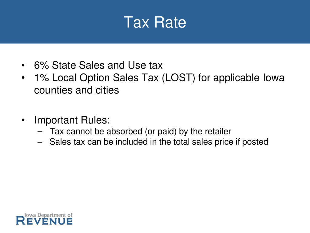 Iowa Sales & Use Tax June 12, 2019 | Terry O'Neill  - ppt