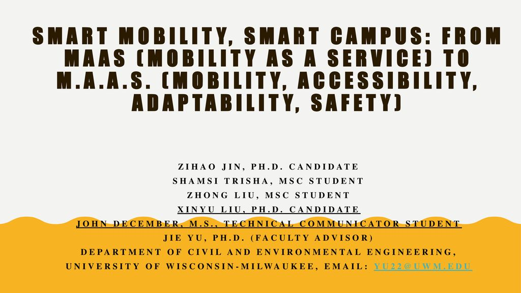Smart Mobility, Smart Campus: From MaaS (Mobility as a Service) to