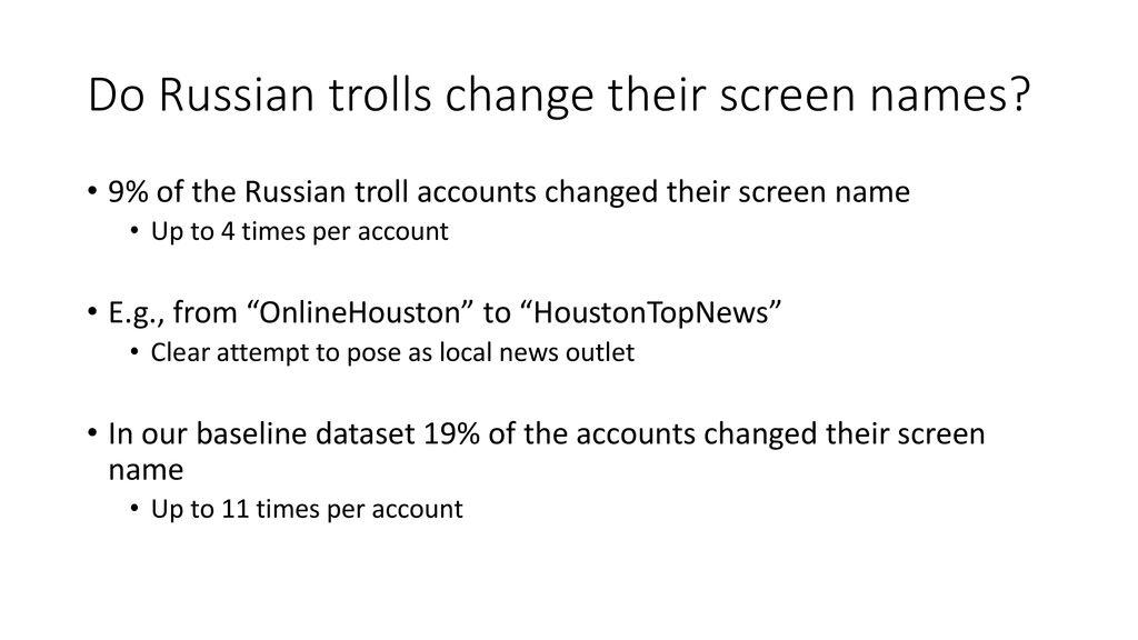 Troll Account Names