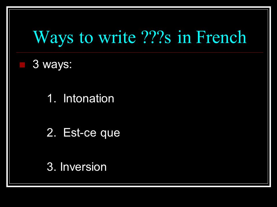 Ways to write s in French