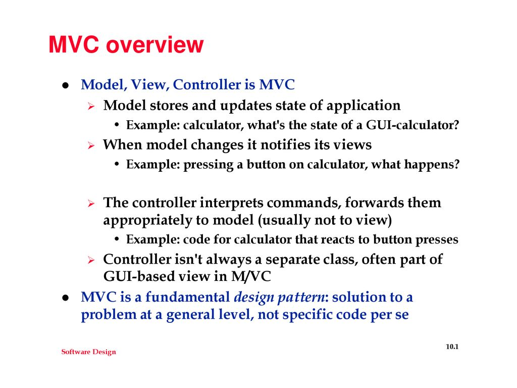 MVC overview Model, View, Controller is MVC - ppt download