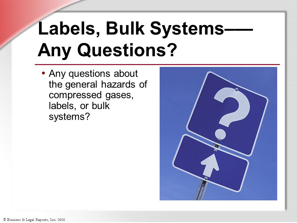 Labels, Bulk Systems–— Any Questions