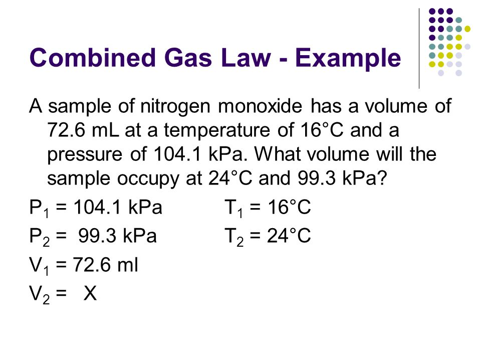 Notes: (combined and ideal gas laws) ppt download.