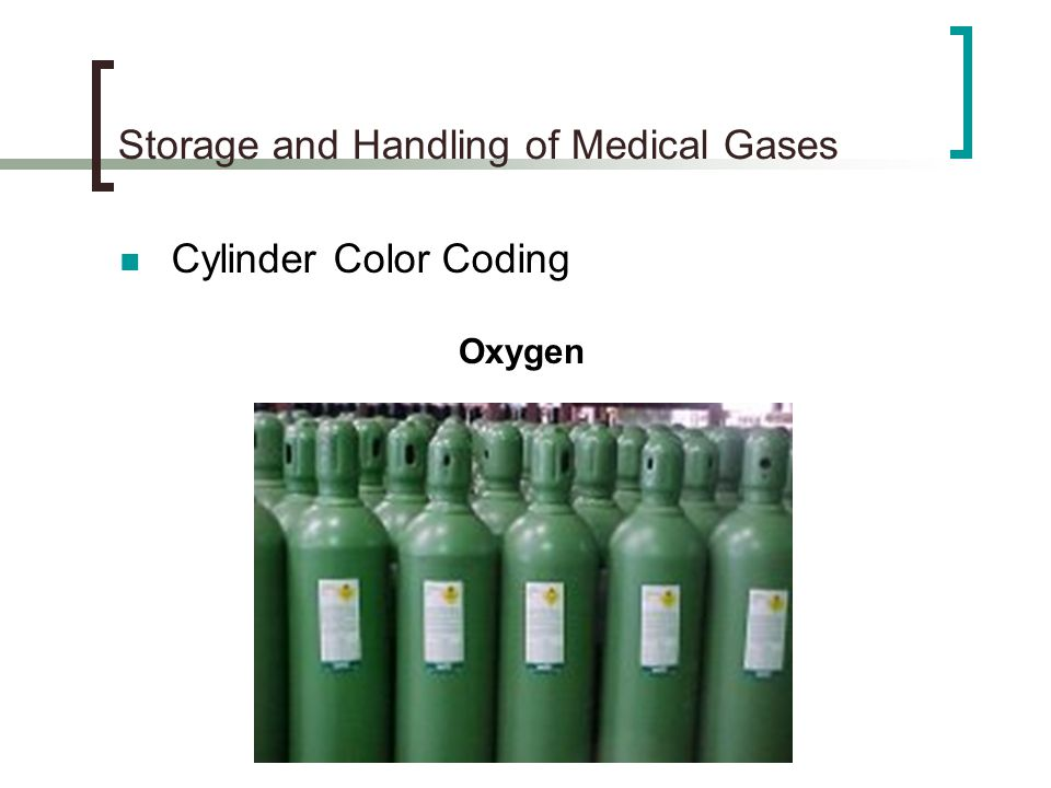 Storage and Handling of Medical Gases - ppt video online