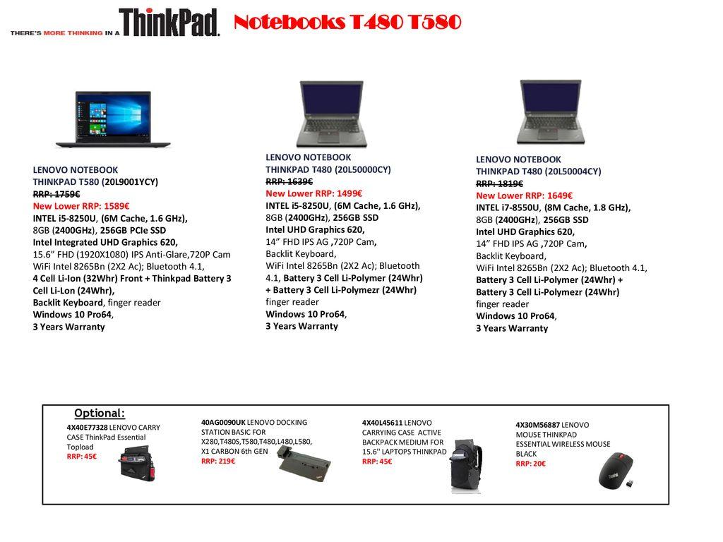 Lenovo ThinkPad Notebooks - ppt download