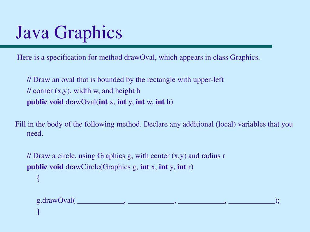 Draw circle in java with radius