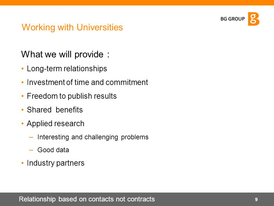 Working with Universities