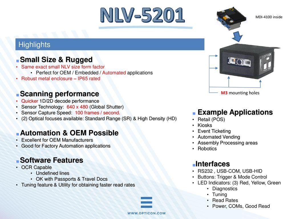 2D Fix Mount Reader NLV-5201 Designed for High-Speed