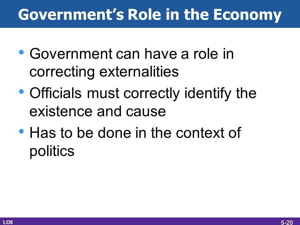 Government's Role in the Economy