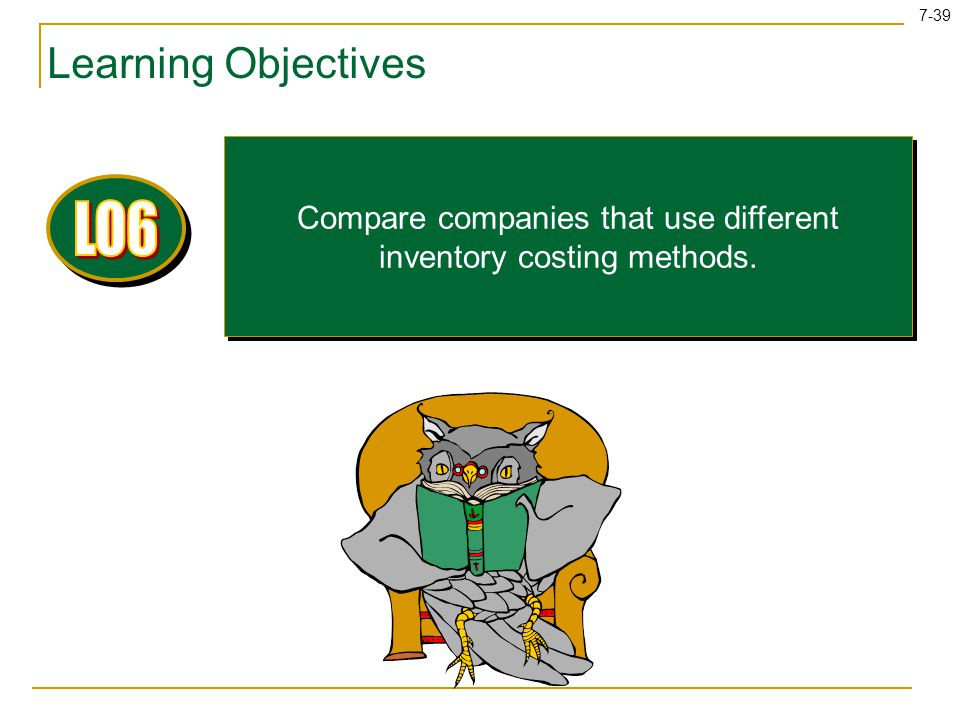 Compare companies that use different inventory costing methods.