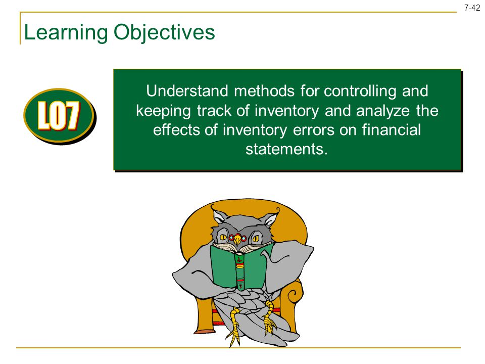 LO7 Learning Objectives