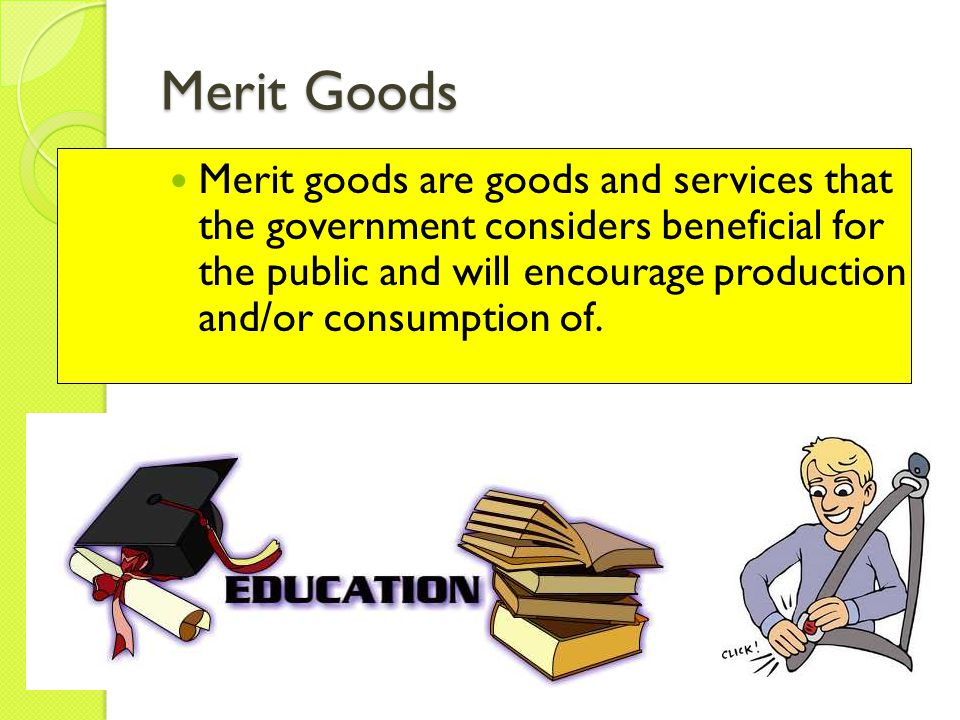 difference between public and merit goods