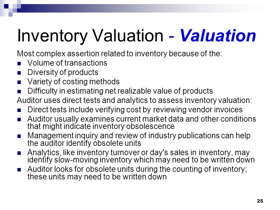 Inventory Valuation - Valuation